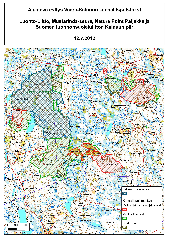 Vaara Kainuun Kansallispuistoehdotus Esitellaan Tanaan