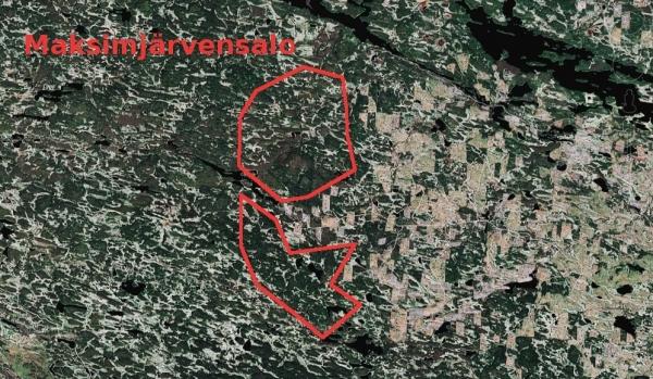 Satelliittikuva paljastaa hakkuiden etenemisen Karjalan metsissä.