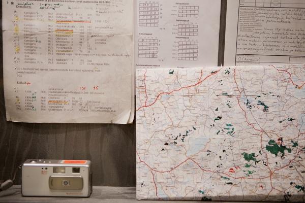 Vuosien saatossa kartat, inventointilomakkeet ja kamerat ovat olleet ahkerassa käytössä.